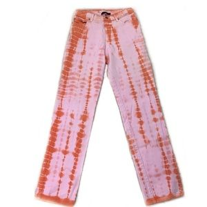 Sanctuary Anthropologie Tie Dye Straight Jeans⭐️